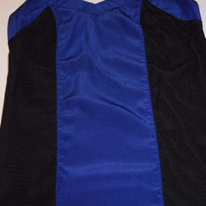 Royal blue and black camisole